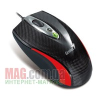 Мышь Genius Navigator 335, Carbon Laser Gaming mouse, USB, Red