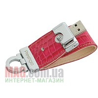 Флешка PRESTIGIO Leather Flash Drive NAND Flash 8 Гб, розовая