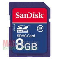Карта памяти SanDisk Secure Digital SDHC 8 Гб