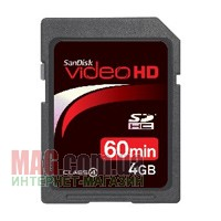 Карта памяти SanDisk Secure Digital SDHC 4 Гб Ultra II Video HD