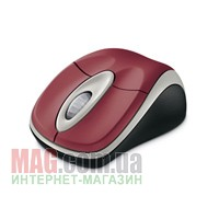Мышь беспроводная Microsoft WL Optical 3000 USB Pomegranate red