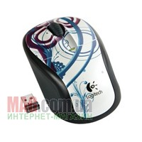 Мышь беспроводная Logitech Wireless Mouse M305 Droplets ICE USB