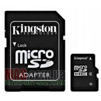 Карта памяти 32 Гб Kingston microSD Class 4 + SD адаптер