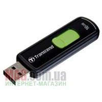 Флешка 16 Гб Transcend JetFlash 500 Black/Green
