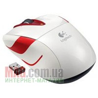 Мышь Logitech Wireless Mouse M525 White/Red